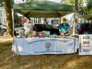 Farmers market book sale tent
